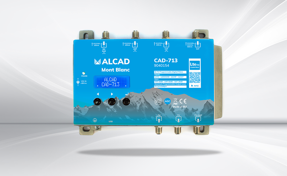 Mont Blanc CAD-713: new compact programmable amplifier for terrestrial and satellite TV